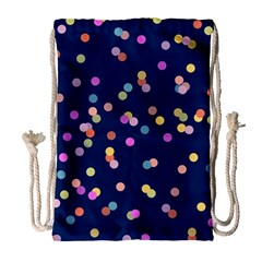 Playful Confetti Drawstring Bag (large)