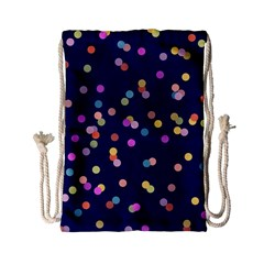 Playful Confetti Drawstring Bag (small) by DanaeStudio