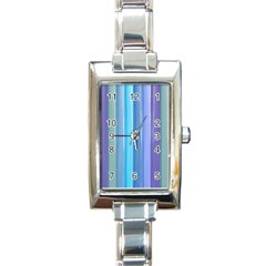 Provence Fields Lavender Pattern Rectangle Italian Charm Watch