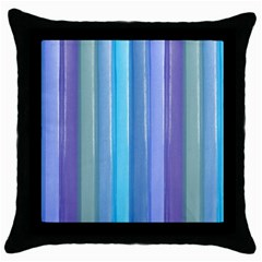 Provence Fields Lavender Pattern Throw Pillow Case (black)