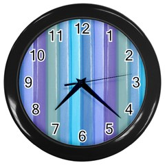 Provence Fields Lavender Pattern Wall Clocks (black)