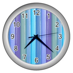 Provence Fields Lavender Pattern Wall Clocks (silver)