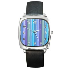 Provence Fields Lavender Pattern Square Metal Watch