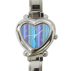 Provence Fields Lavender Pattern Heart Italian Charm Watch