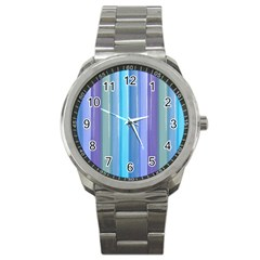 Provence Fields Lavender Pattern Sport Metal Watch
