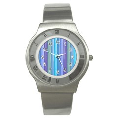 Provence Fields Lavender Pattern Stainless Steel Watch