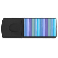 Provence Fields Lavender Pattern Usb Flash Drive Rectangular (4 Gb)