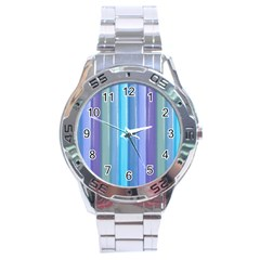 Provence Fields Lavender Pattern Stainless Steel Analogue Watch