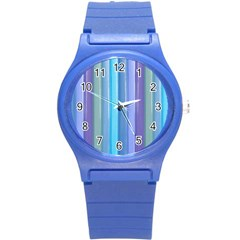 Provence Fields Lavender Pattern Round Plastic Sport Watch (s)