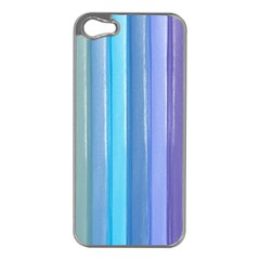 Provence Fields Lavender Pattern Apple Iphone 5 Case (silver)
