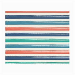 Summer Mood Striped Pattern Small Glasses Cloth by DanaeStudio