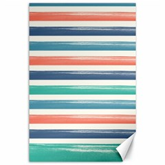 Summer Mood Striped Pattern Canvas 24  X 36  by DanaeStudio