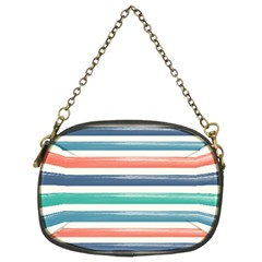 Summer Mood Striped Pattern Chain Purses (two Sides)  by DanaeStudio