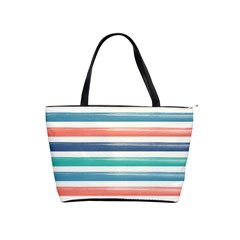 Summer Mood Striped Pattern Shoulder Handbags by DanaeStudio