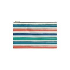 Summer Mood Striped Pattern Cosmetic Bag (small)  by DanaeStudio
