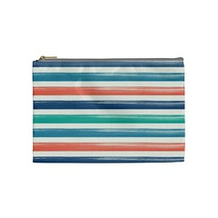 Summer Mood Striped Pattern Cosmetic Bag (medium)