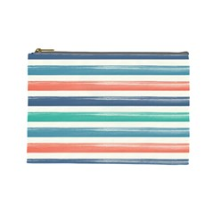 Summer Mood Striped Pattern Cosmetic Bag (large)