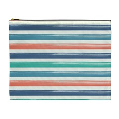 Summer Mood Striped Pattern Cosmetic Bag (xl)