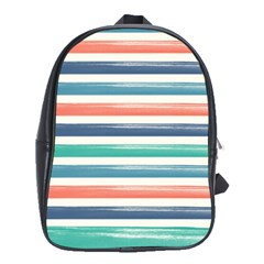 Summer Mood Striped Pattern School Bags(large)  by DanaeStudio