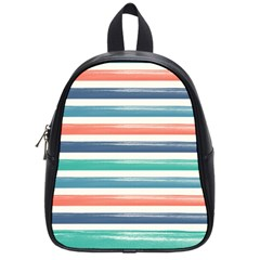 Summer Mood Striped Pattern School Bags (small)
