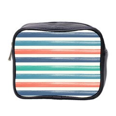 Summer Mood Striped Pattern Mini Toiletries Bag 2 Side