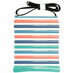 Summer Mood Striped Pattern Shoulder Sling Bags by DanaeStudio