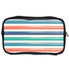 Summer Mood Striped Pattern Toiletries Bags 2 Side