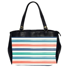 Summer Mood Striped Pattern Office Handbags (2 Sides)  by DanaeStudio
