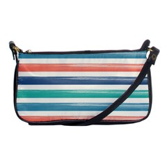 Summer Mood Striped Pattern Shoulder Clutch Bags