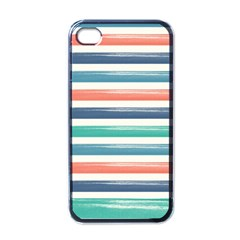 Summer Mood Striped Pattern Apple Iphone 4 Case (black)