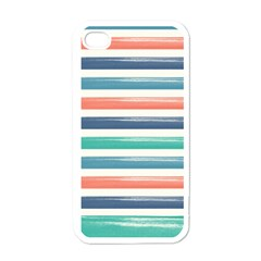 Summer Mood Striped Pattern Apple Iphone 4 Case (white)