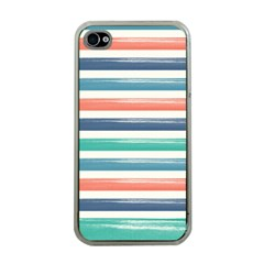 Summer Mood Striped Pattern Apple Iphone 4 Case (clear)