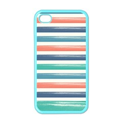 Summer Mood Striped Pattern Apple Iphone 4 Case (color)