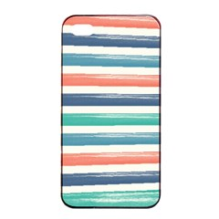 Summer Mood Striped Pattern Apple Iphone 4/4s Seamless Case (black)