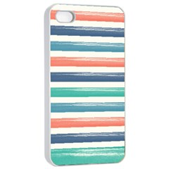 Summer Mood Striped Pattern Apple Iphone 4/4s Seamless Case (white)