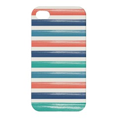 Summer Mood Striped Pattern Apple Iphone 4/4s Premium Hardshell Case