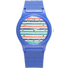 Summer Mood Striped Pattern Round Plastic Sport Watch (s)