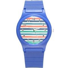 Summer Mood Striped Pattern Round Plastic Sport Watch (s)