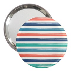 Summer Mood Striped Pattern 3  Handbag Mirrors