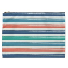 Summer Mood Striped Pattern Cosmetic Bag (xxl)