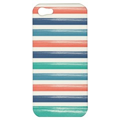 Summer Mood Striped Pattern Apple Iphone 5 Hardshell Case