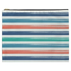 Summer Mood Striped Pattern Cosmetic Bag (xxxl)