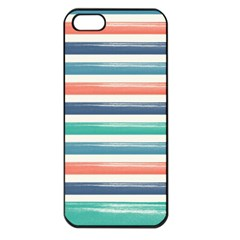 Summer Mood Striped Pattern Apple Iphone 5 Seamless Case (black)
