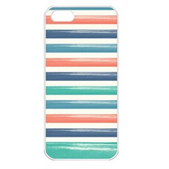 Summer Mood Striped Pattern Apple Iphone 5 Seamless Case (white)