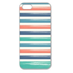 Summer Mood Striped Pattern Apple Seamless Iphone 5 Case (clear)