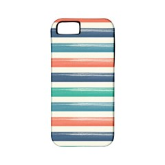 Summer Mood Striped Pattern Apple Iphone 5 Classic Hardshell Case (pc+silicone)