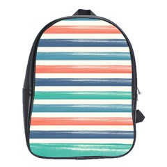 Summer Mood Striped Pattern School Bags (xl)