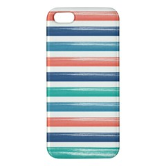 Summer Mood Striped Pattern Apple Iphone 5 Premium Hardshell Case