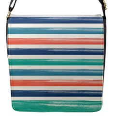 Summer Mood Striped Pattern Flap Messenger Bag (s)