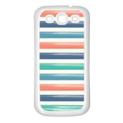 Summer Mood Striped Pattern Samsung Galaxy S3 Back Case (white)